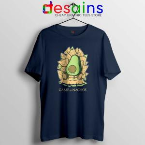 Game of Nachos Avocado Navy Tshirt Game of Thrones Tee Shirts