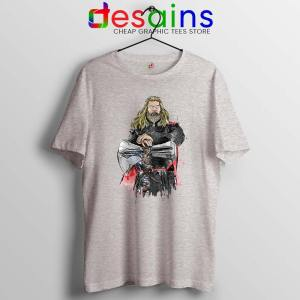 God of Thunder Thor Sport Grey Tshirt Avengers Endgame Tee Shirts