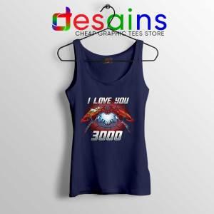 I Love You 3000 Endgame Navy Tank Top Iron Man Tops