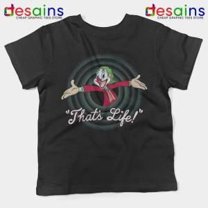 Joker Thats Life Black Kids Tshirt Looney Tunes Youth Tees