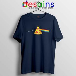 Pink Floyd Pizza Navy Tshirt Dark Side of the Pizza Tee Shirts
