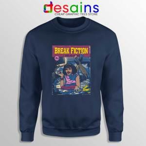 Pulp Fiction Freddie Mercury Navy Sweatshirt Break Fiction Sweater S-3XL