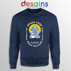 Space Yoga Universe Meditate Navy Sweatshirt Yoga Lover Sweater