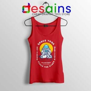 Space Yoga Universe Meditate Red Tank Top Yoga Lover Tops S-3XL