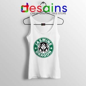 The Jasmine Dragon White Tank Top Tea Starbucks Tank Tops S-3XL