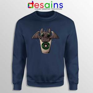 Toothless Dragon Coffee Navy Sweatshirt How to Train Your Dragon Sweater