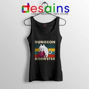 Dungeon Meowster DnD Black Tank Top Cat Gamer D20 Tank Tops