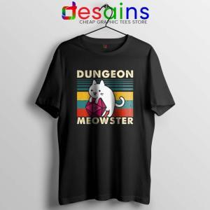 Dungeon Meowster DnD Tshirt Cat Gamer D20 Tee Shirts S-3XL