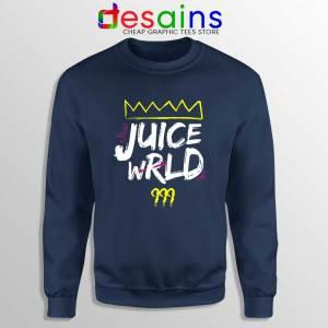 Juice Wrld King 999 Navy Sweatshirt 999 Club Hip Hop Sweater