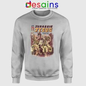 Jurassic Jesus Christmas Sport Grey Sweatshirt Jurassic Park Sweater