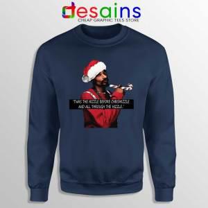 Snoop Dogg on Christmas Navy Sweatshirt American Rapper