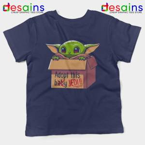 Adopt this Baby Jedi Navy Kids Tshirt Baby Yoda Jedi Youth Tees