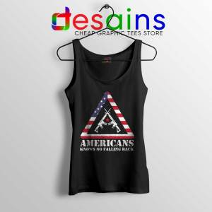 American Knows No Falling Back Tank Top Independence Day Tops S-3XL
