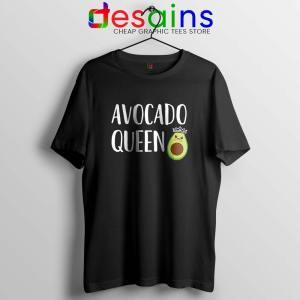 Avocado Queen Black Tshirt Girls Funny Avocado Tee Shirts