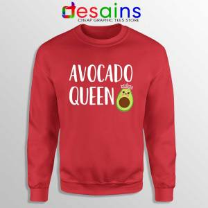 Avocado Queen Sweatshirt Girls Funny Avocado Sweaters S-3XL