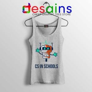 CS in Schools Robot Sport Grey Tank Top Computer Science Tops S-3XL