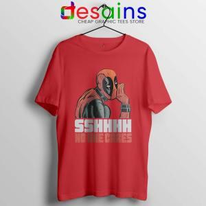 Deadpool No One Cares Red Tshirt Funny Deadpool Tee Shirts