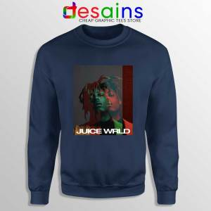 Juice Wrld 999 Fan Art Navy Sweatshirt Juice Wrld RIP Sweater