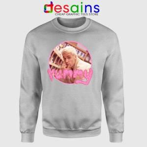 Justin Bieber Yummy SPort Grey Sweatshirt Yummy Song Sweaters