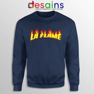 Travis Scott La Flame Navy Sweatshirt Merch Travis Scott Sweaters