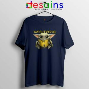 Wu Tang Clan Baby Yoda Navy Tshirt The Child Tee Shirts S-3XL