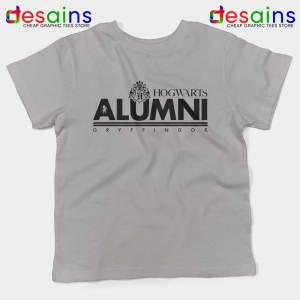 Hogwarts Alumni Gryffindor Light Grey Kids Tshirt Harry Potter Youth