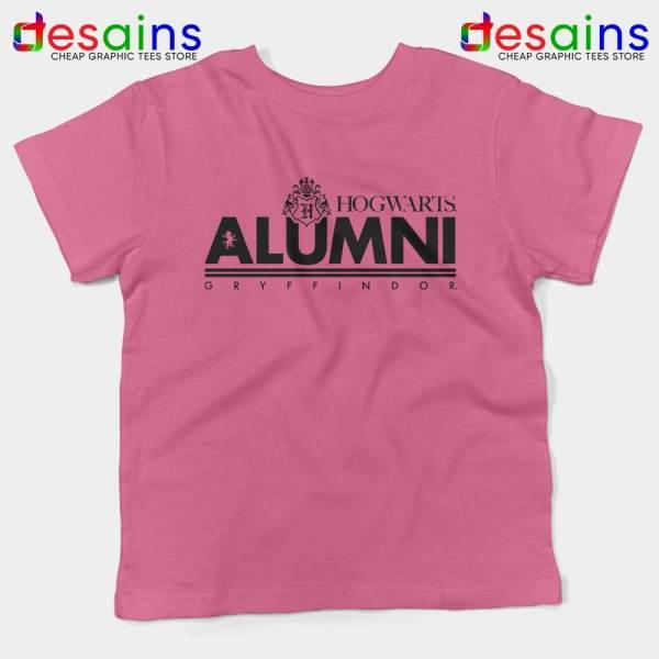 Hogwarts Alumni Gryffindor Pink Kids Tshirt Harry Potter Youth