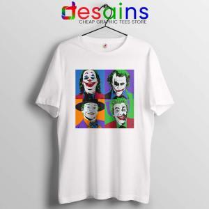 Joker Movie Pop Art White Tshirt DC Comics Merch Tees