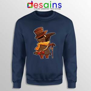 Mask Plague Doctor Navy Sweatshirt Medical Physician Sweaters