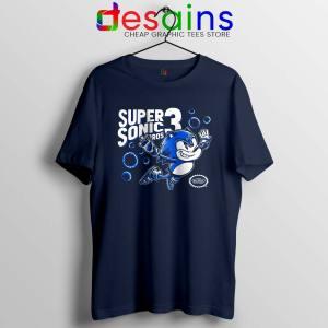 Sonic in Super Mario Bros 3 Tshirt Super Hedgehog Bros Tee Shirts S-3XL