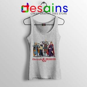 Cheesecake and Dragons Sport Grey Tank Top DnD The Golden Girls Tops