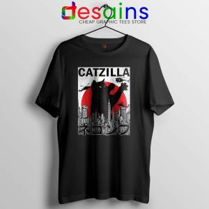 Funny Catzilla Godzilla Black Tshirt King of the Monsters Cats Tees