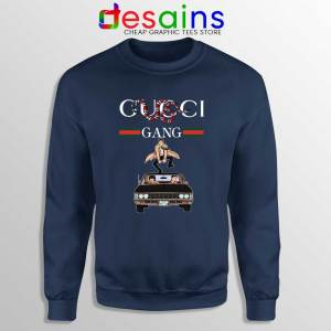 Gucci Gang Funny Supernatural Navy Sweatshirt Gucci TV Series Sweaters