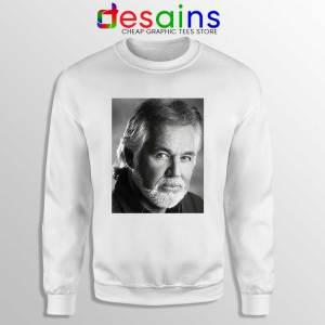 Kenny Rogers The Greatest White Sweatshirt Legendary Music Sweaters