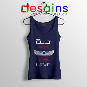 Love Album by The Cult Navy Tank Top British Rock Band Tops
