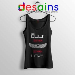 Love Album by The Cult Tank Top British Rock Band Tops S-3XL