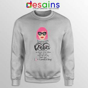 Moira Rose Breast Cancer SPort Grey Sweatshirt Schitt's Creek Sitcom