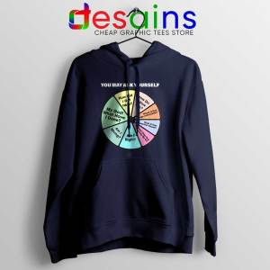 Once in a Lifetime Lyrics Navy Hoodie Talking Heads Band
