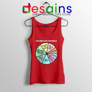 Once in a Lifetime Lyrics Red Tank Top Talking Heads Band Tops