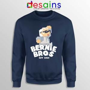 Super Bernie Bros Navy Sweatshirt Funny Super Mario Bros Sweaters