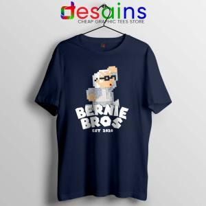 Super Bernie Bros Navy Tshirt Funny Super Mario Bros Tees