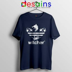 The Witcher Three Stripes Logo Navy Tshirt Netflix TV Series Tees