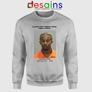 Playboi Carti Mugshot Sport Grey Sweatshirt American Rapper Sweaters