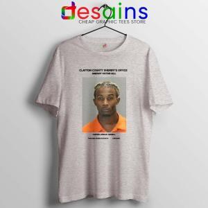 Playboi Carti Mugshot Sport Grey Tshirt American Rapper Tee Shirts