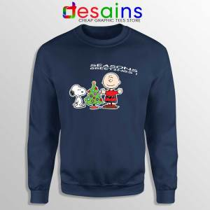 Snoopy And Charlie Brown Christmas Navy Sweatshirt Holiday Gifts