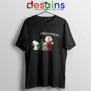 Snoopy And Charlie Brown Christmas Tshirt Holiday Gifts Tee Shirts S-3XL