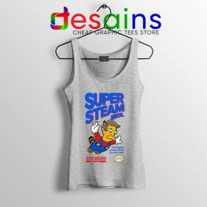 Super Simpsons Bros Sport Grey Tank Top Super Mario Nintendo Tops