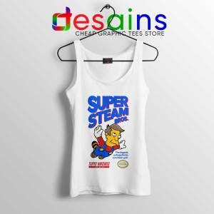 Super Simpsons Bros Tank Top Super Mario Nintendo Tops S-3XL