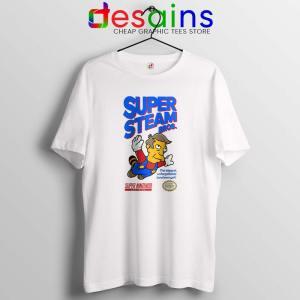 Super Simpsons Bros Tshirt Super Mario Nintendo Tee Shirts S-3XL