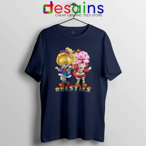 Besties Forever Girls Navy Tshirt Best Friend Tee Shirts
